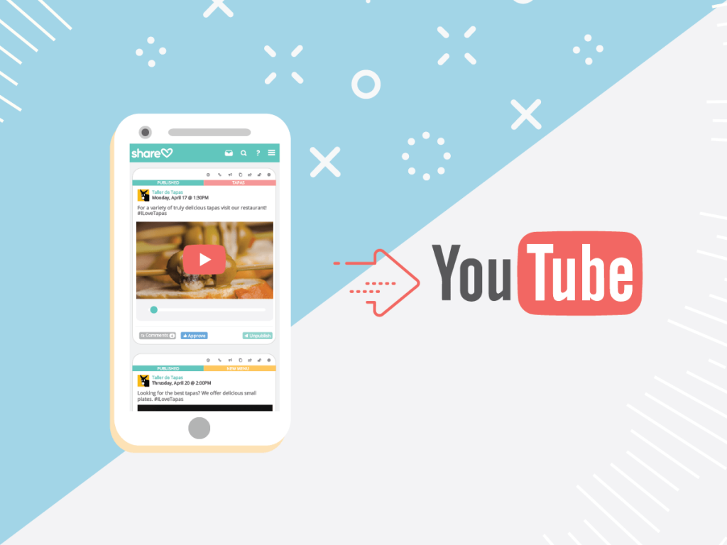 We're pleased to announce the world premiere of YouTube's integration in Sharelov!
