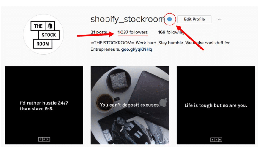 stockroom verified on instagram