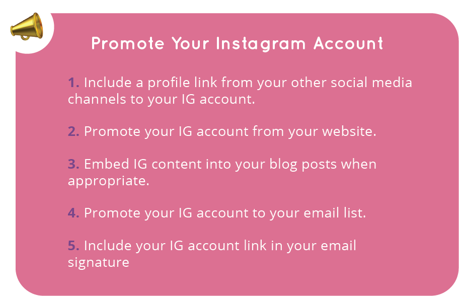 Five ways to promote Your Instagram Account