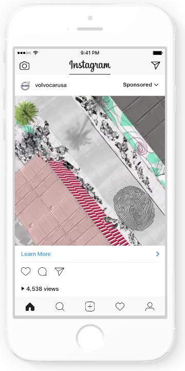 Instagram volvo video ad