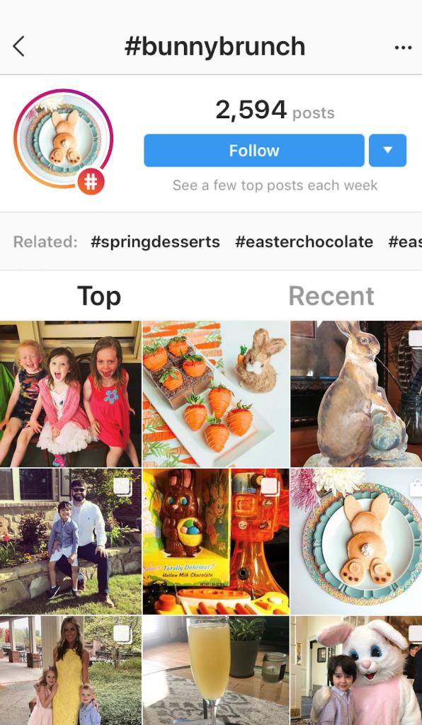 Bunny brunch hashtag Instagram