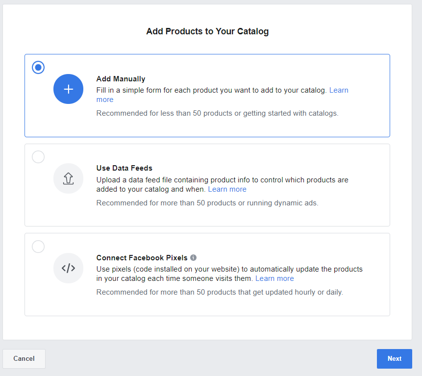 Facebook Catalog setup step five b