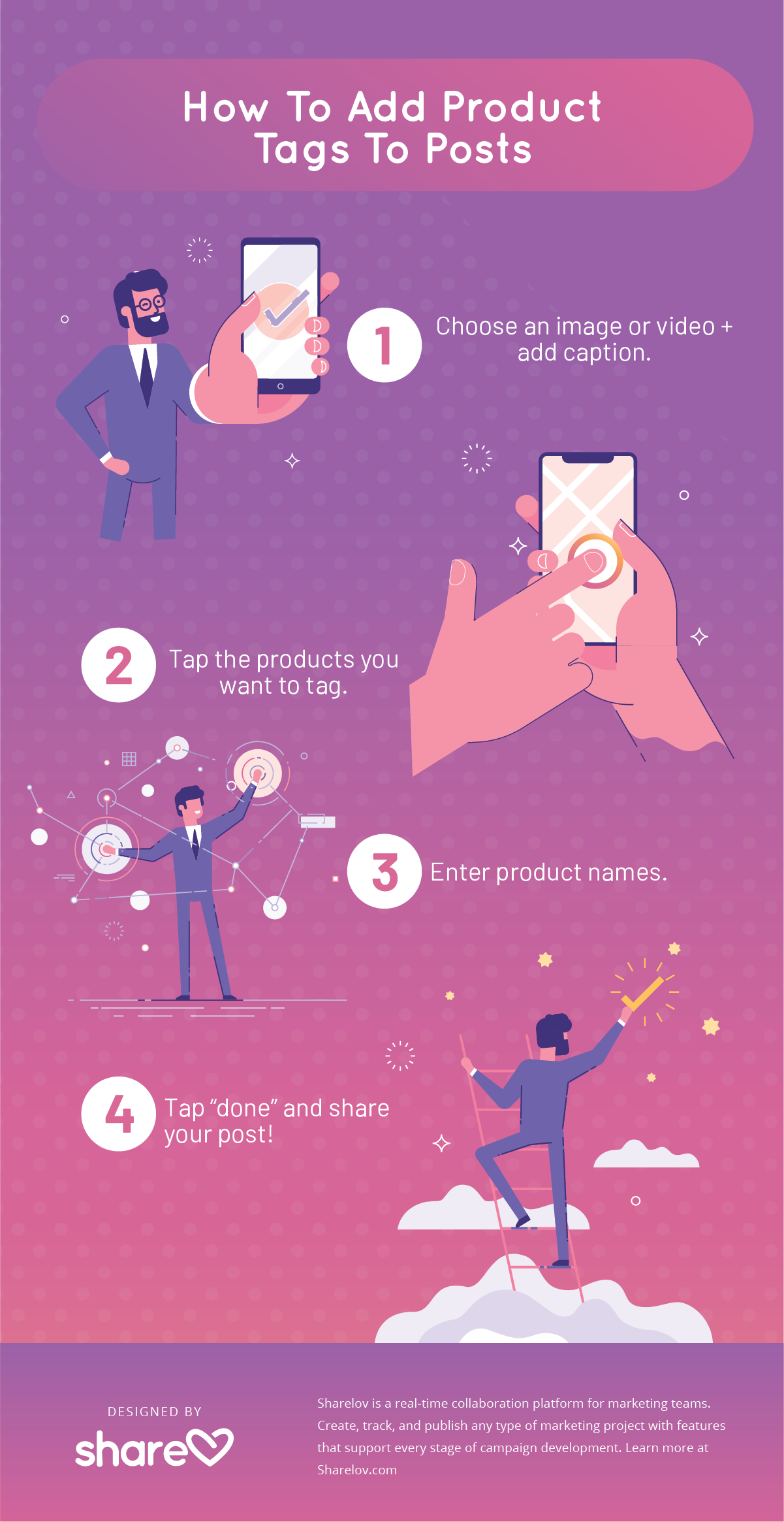 How To Add Product Tags To Posts infographic