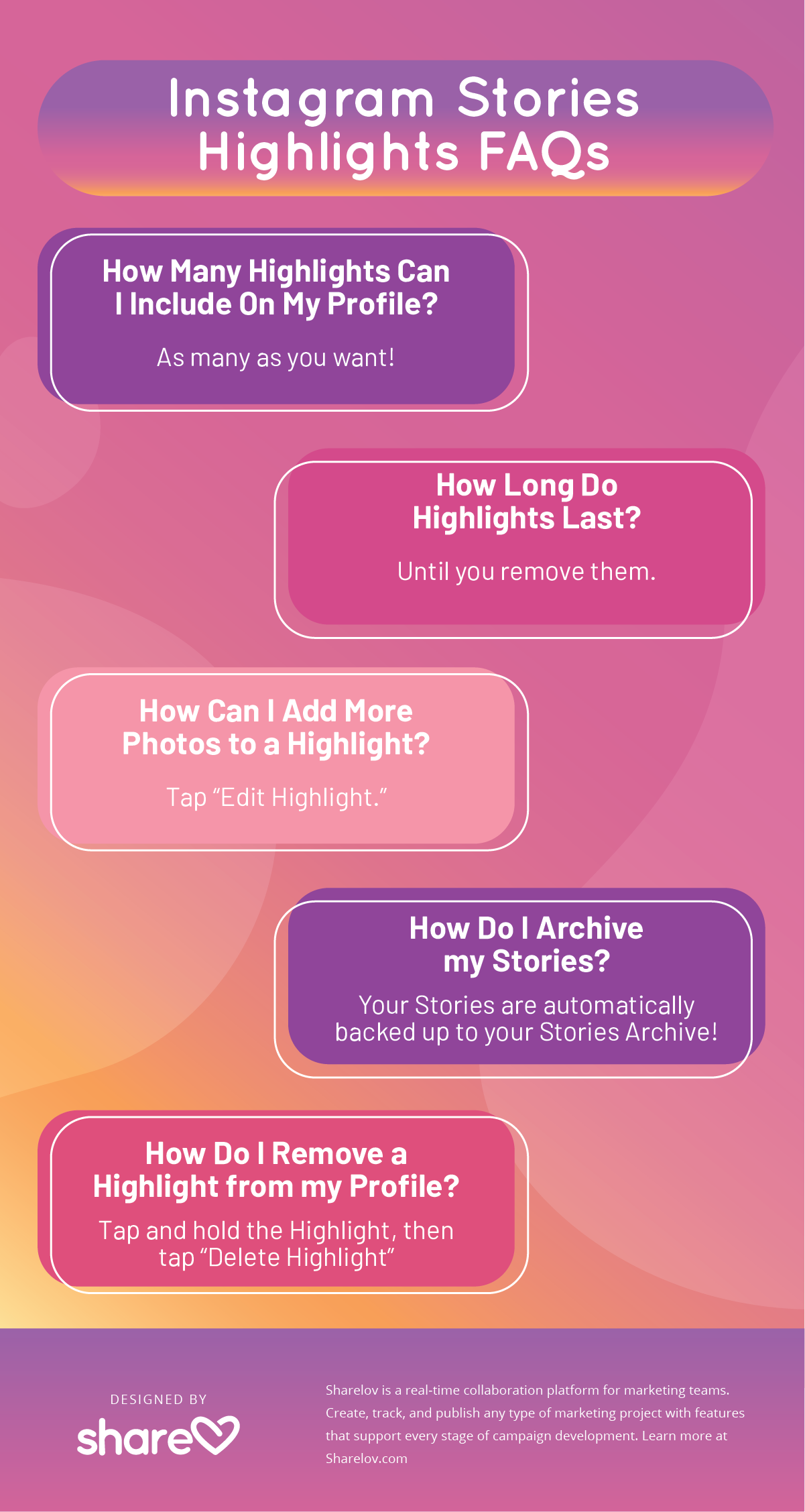Instagram Stories Highlights FAQs