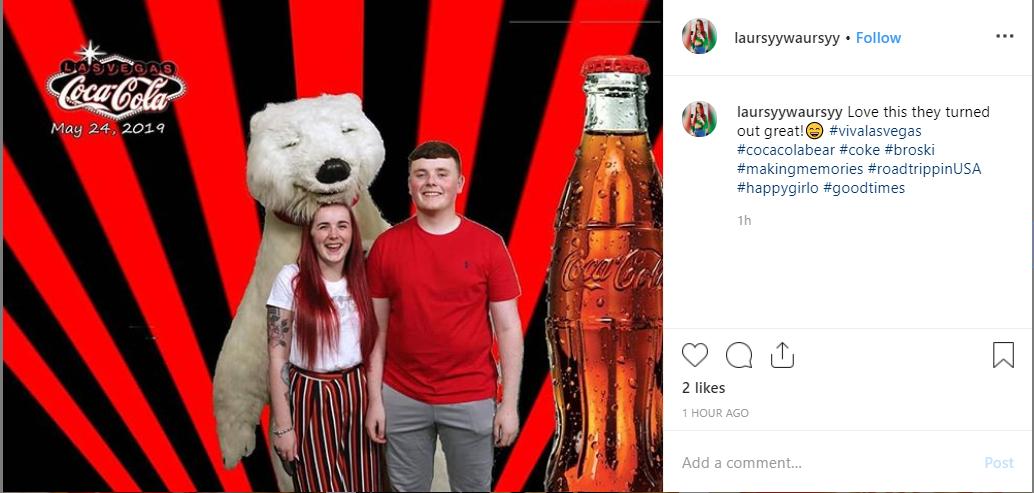 UGC for more followers on Instagram coke