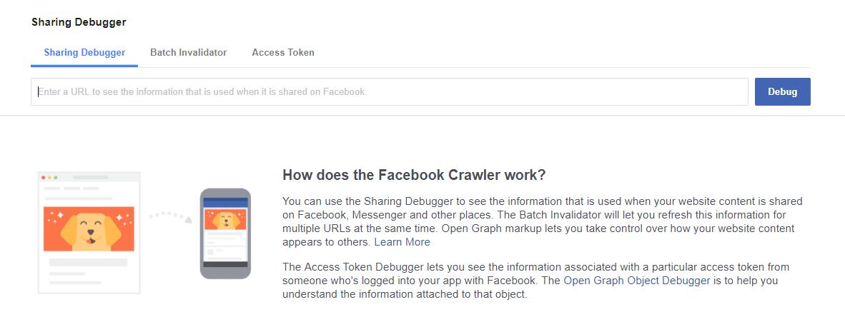 Facebook Debugger example welcome
