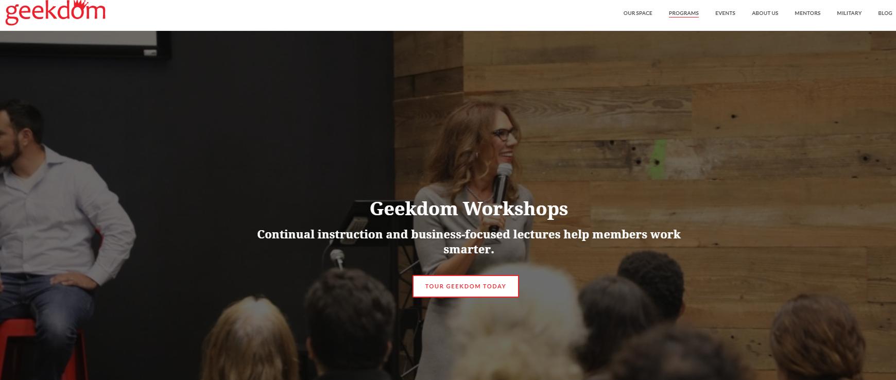 Geekdom workshops