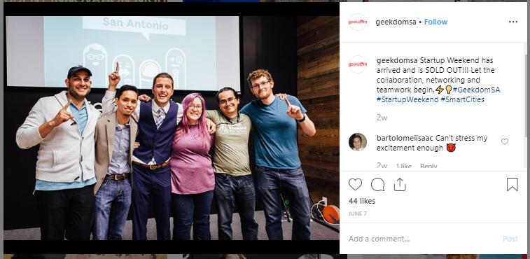 Geekdom Instagram