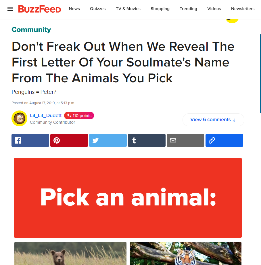 buzzfeed on pinterest site