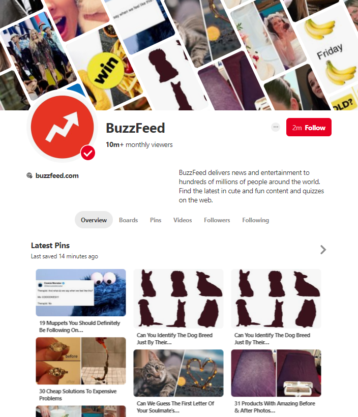 Buzzfeed on Pinterest