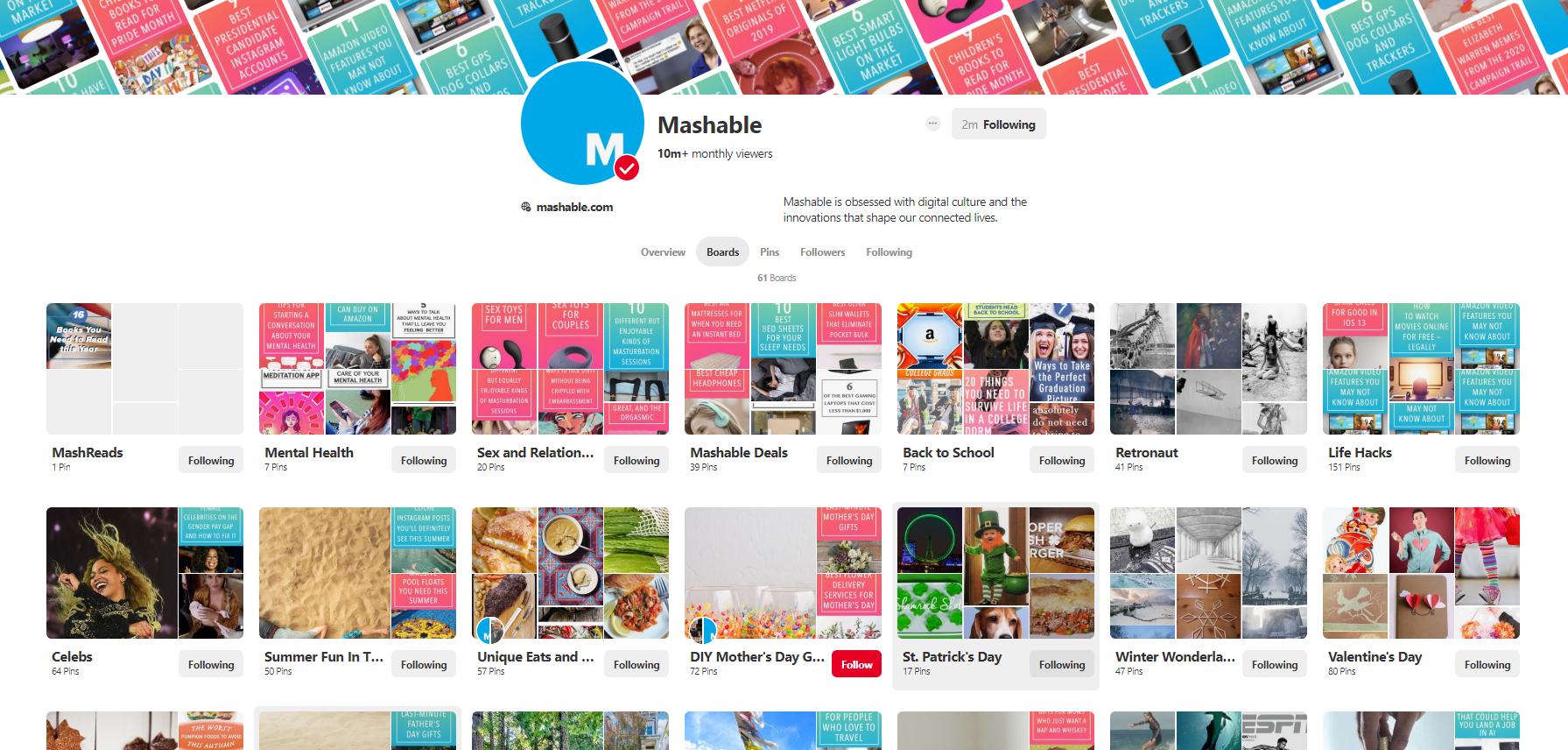 mashable boards on Pinterest