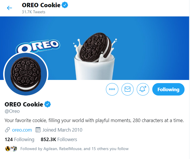 Oreo Cookie Inviting wall photo Twitter