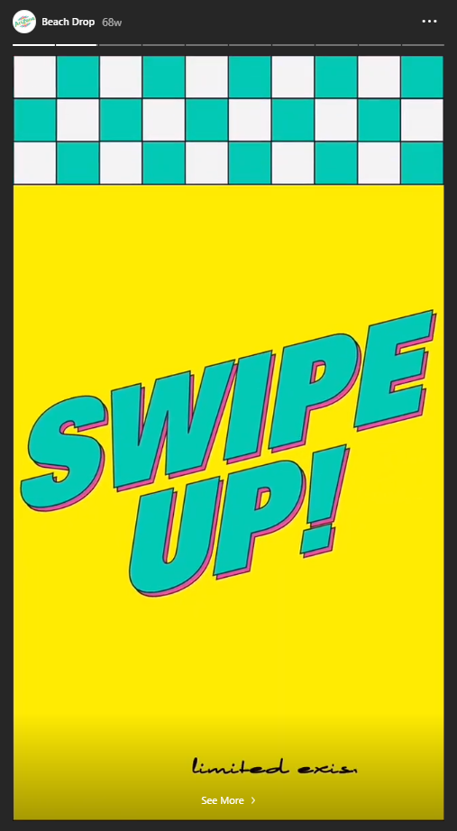 swipe up example drinkarizona