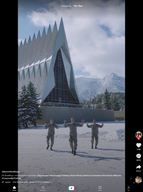 Dancing military