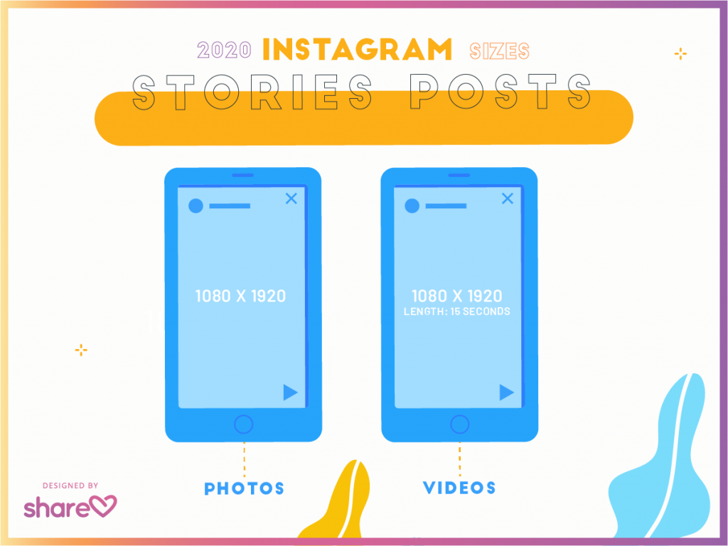 instagram stories posts sizes