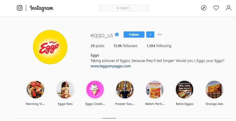Kellog's Eggo Instagram theme challenge