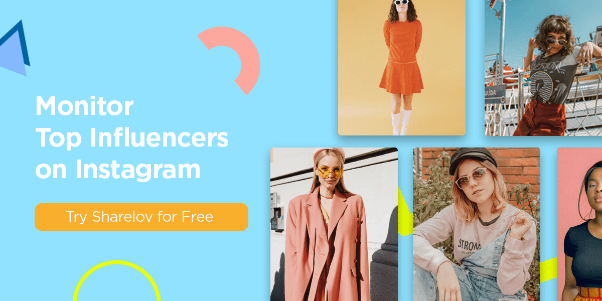 Easily monitor top influencers on Instagram with Sharelov