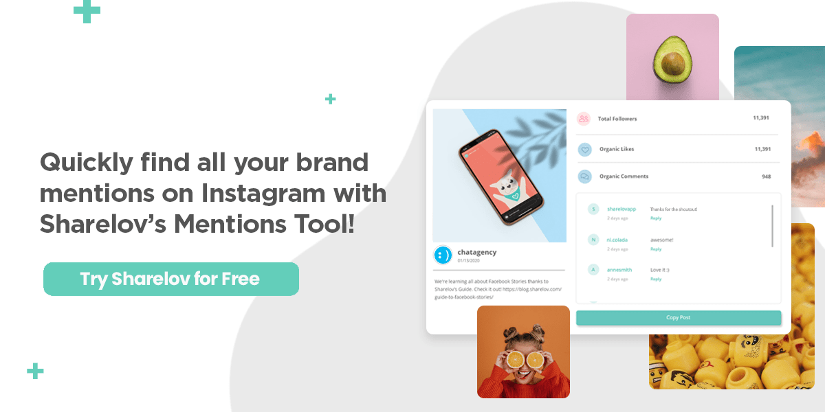 Quickly find all your brand mentions on Instagram with Sharelovs Mention Tool