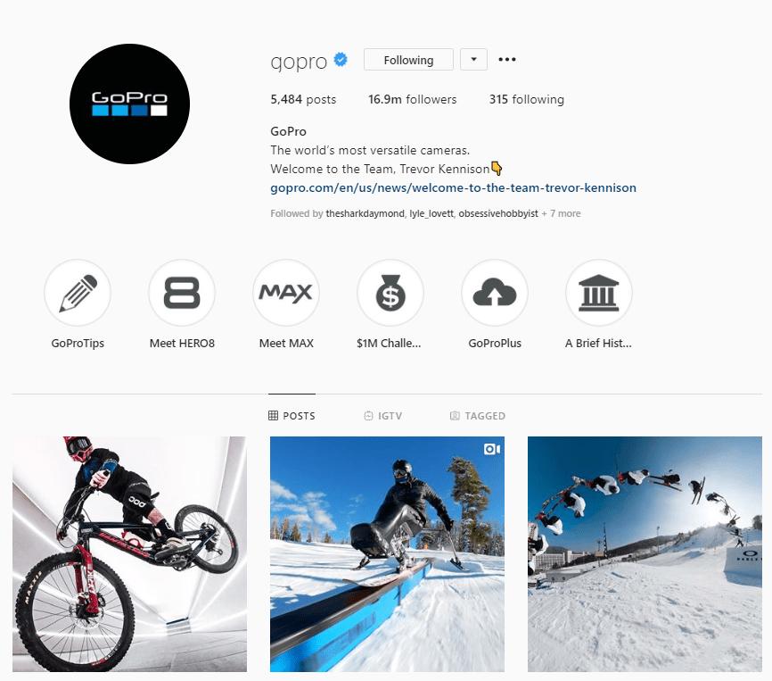 gopro instagram bio example