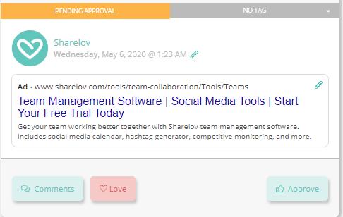 Sharelov sample Google ad