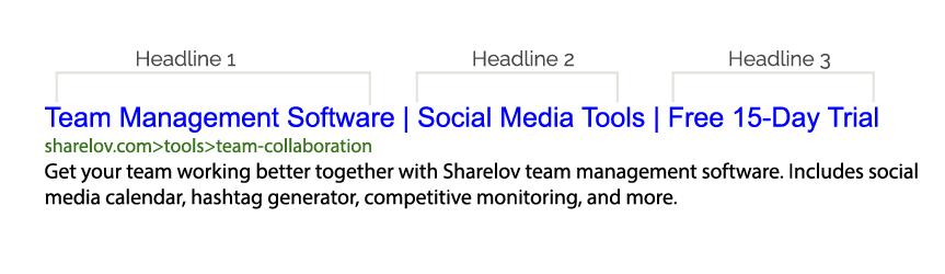Google Ads Headlines Example