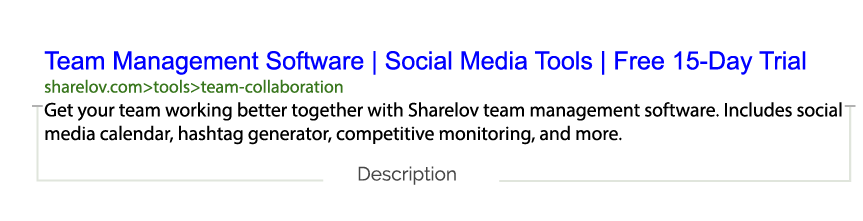 Google Ads Description Example
