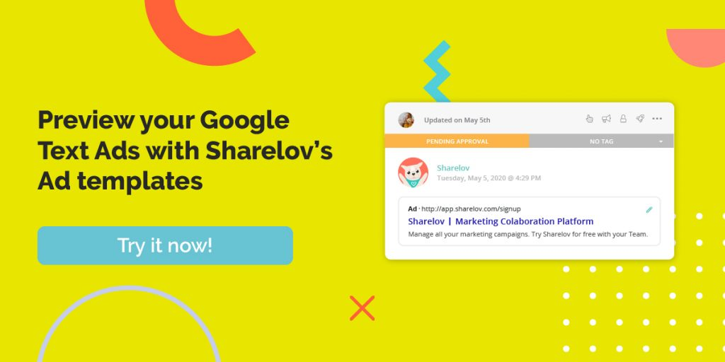 Preview your Google Text Ads with Sharelov's Ad templates