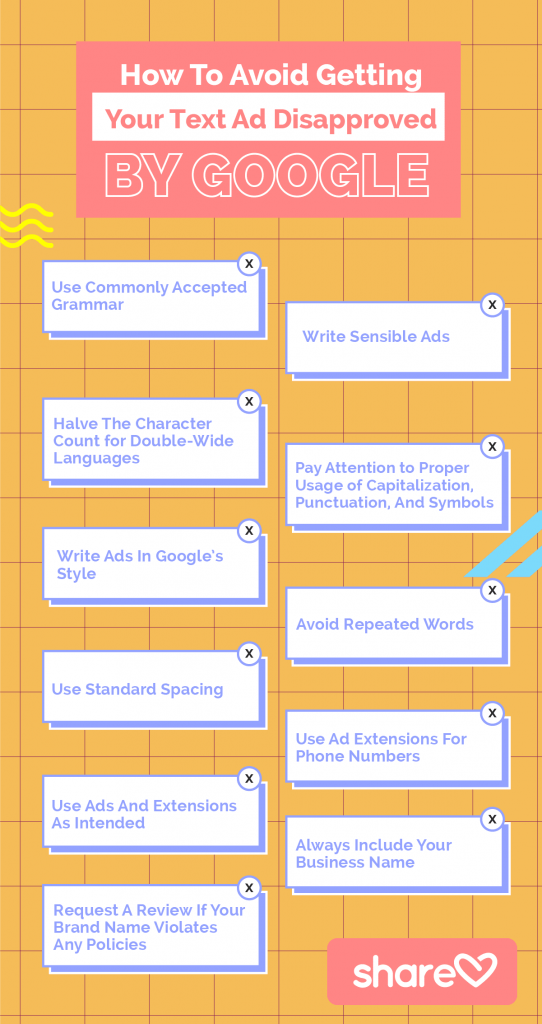 How To Avoid Get Your Text Ad Disapproved By Google
