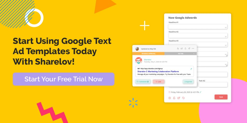 Start Using Google Text Ad Templates Today With Sharelov!