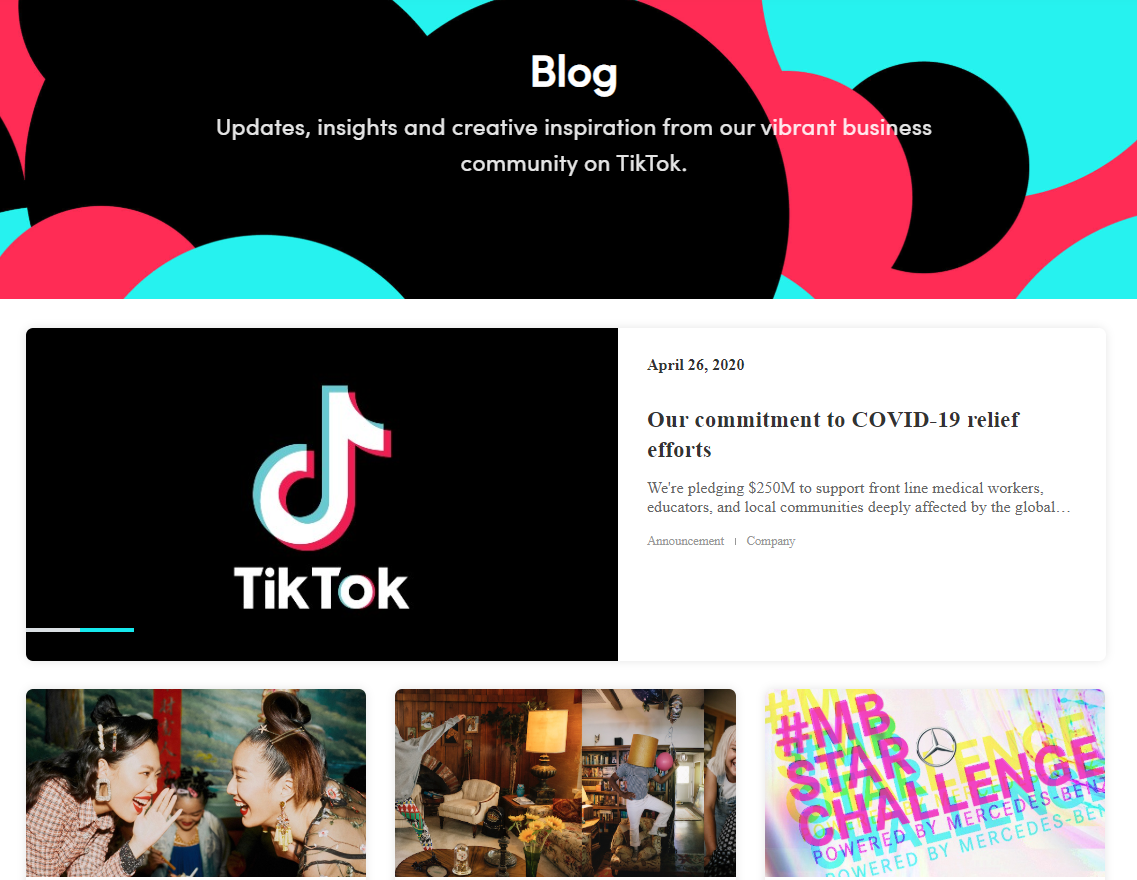 TikTok Business blog