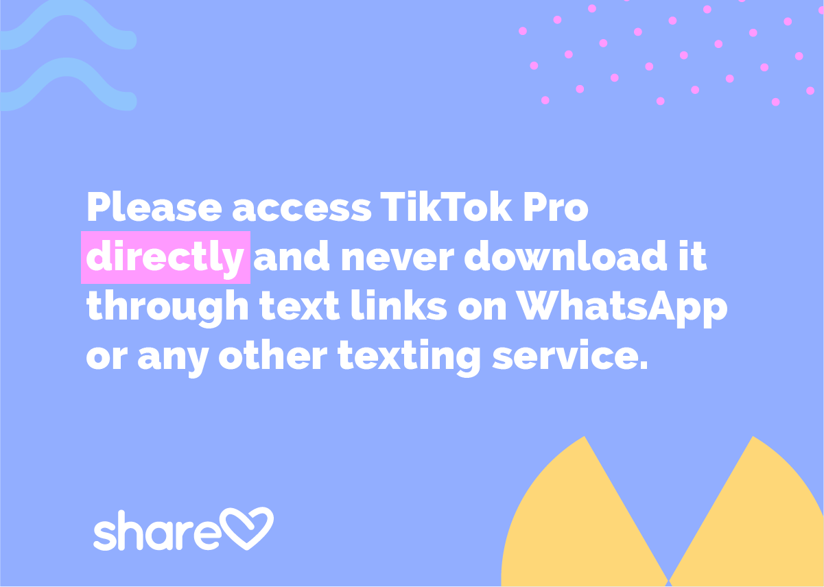 Please access TikTok Pro directly