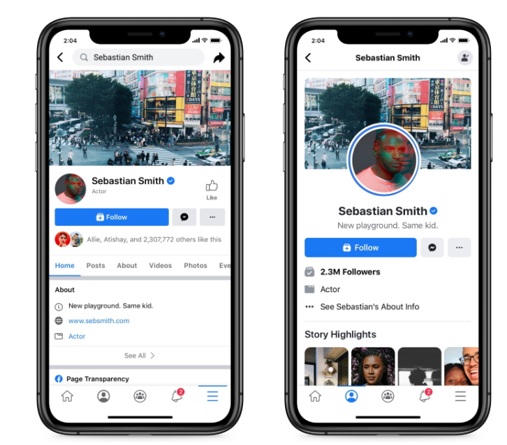 facebook new mobile layout adweek