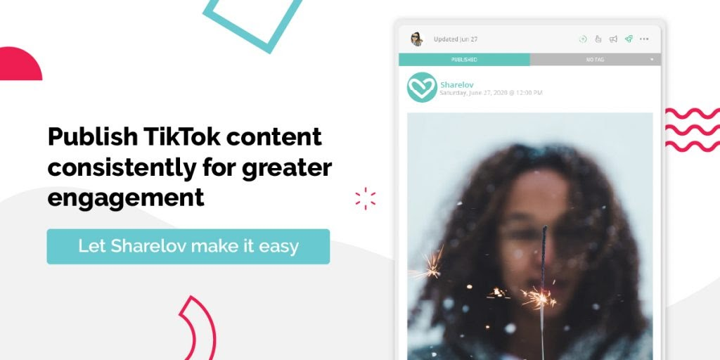 publish tiktok content consistently with sharelov