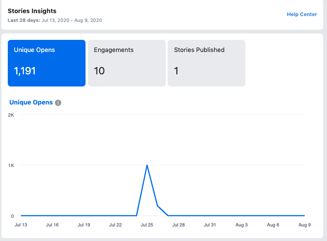 facebook stories insights