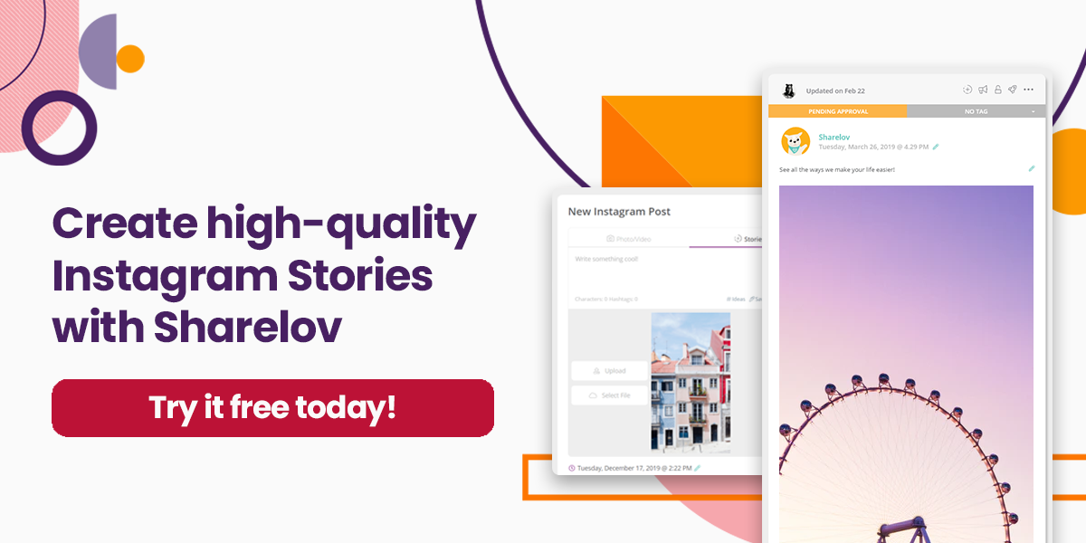 Create high-quality Instagram Stories with Sharelov Try it free today