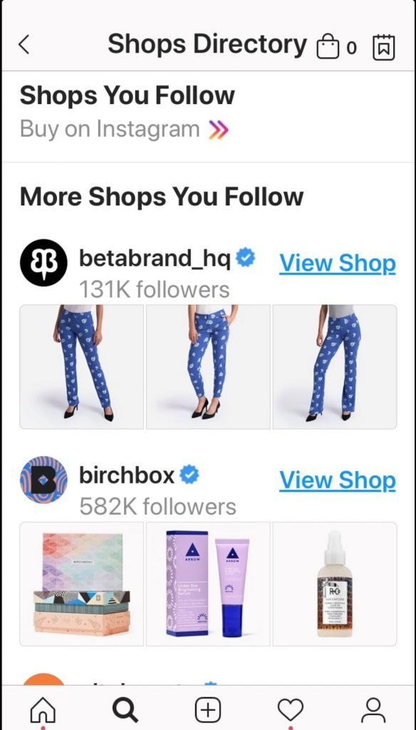 Instagram Store Arrow icon