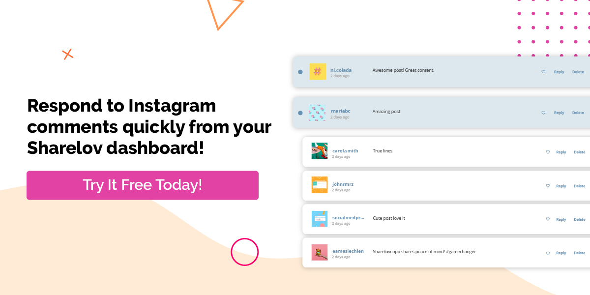 Respond to Instagram comments quickly from Your Sharelov dashboard