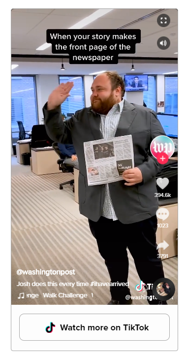 washington post on tiktok