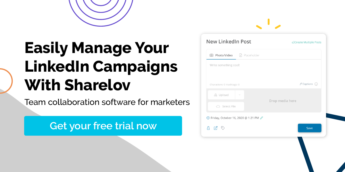 Easily Manage Your LinkedIn Campaigns With Sharelov