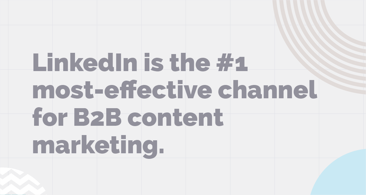 Linkedin is the most-effective channel for b2b content marketing