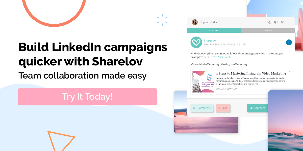 Build LinkedIn Campaigns quicker with sharelov