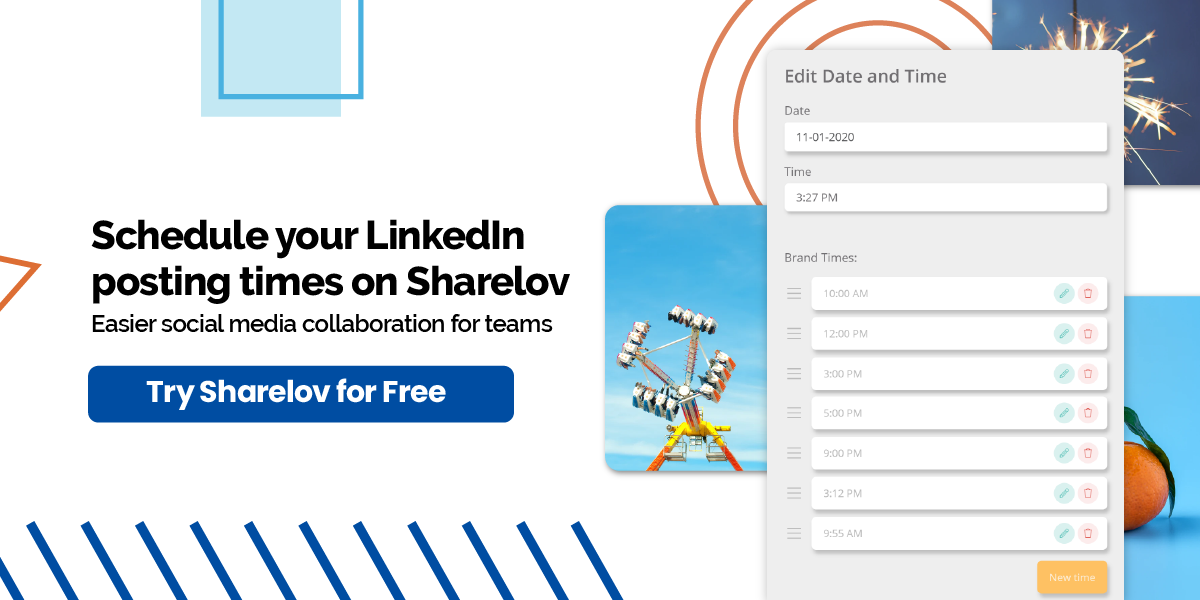 Schedule your LinkedIn posting times on Sharelov