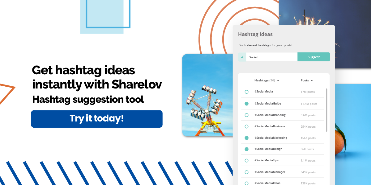 Get hashtag ideas instantly with Sharelov