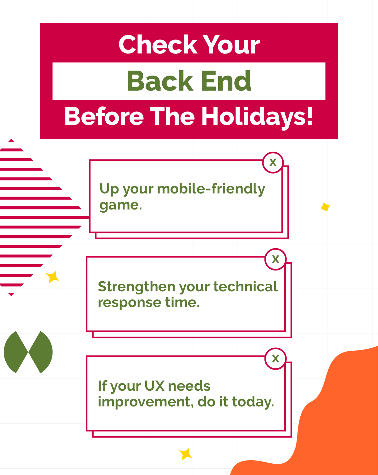 Check your back end before the holidays (Bonus Content)