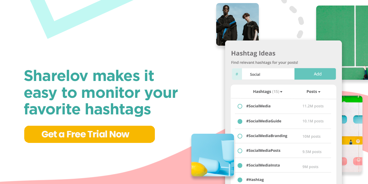 Sharelov makes it easy to Monitor your favorite hashtags.