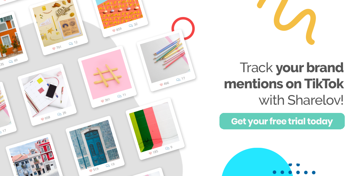 Track your brand mentions on TikTok with Sharelov