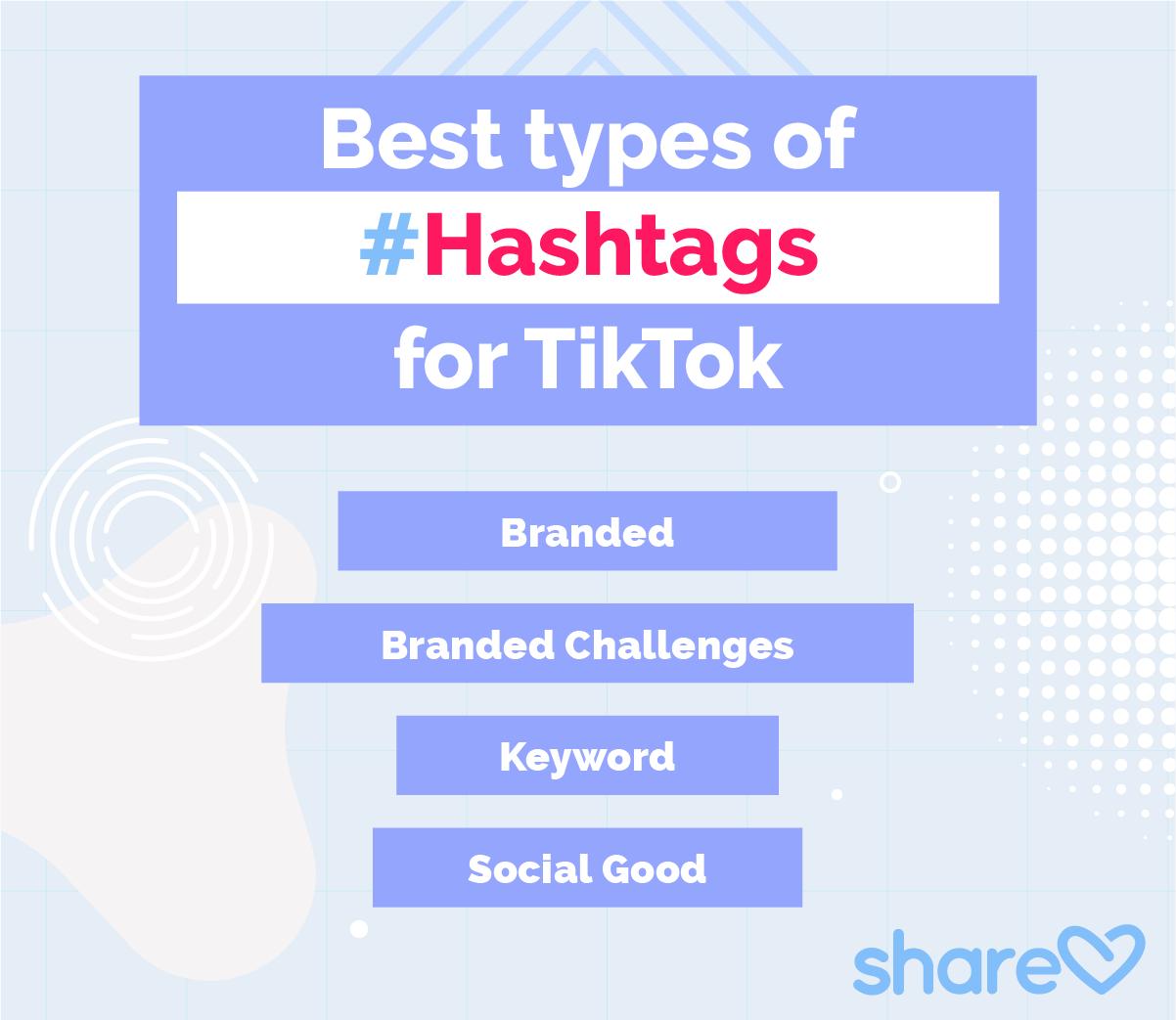 Best types of hashtags for TikTok