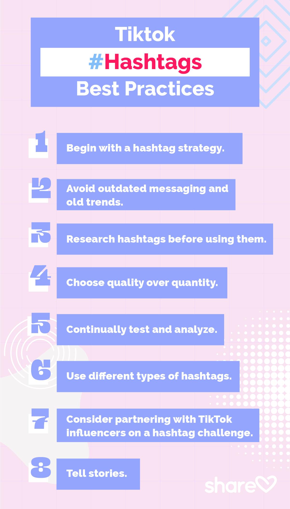Tiktok Hashtags Best Practices