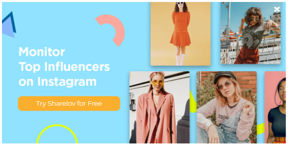 Monitor top instagram influencers with Sharelov