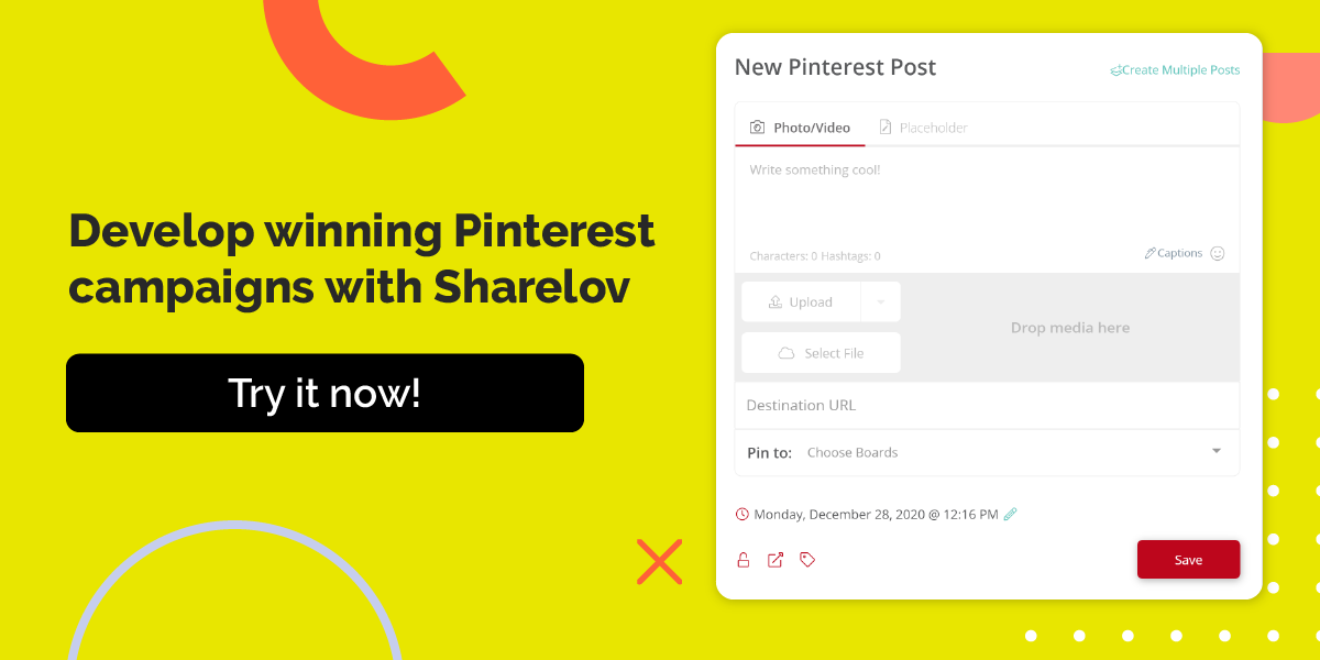 Develop winning Pinterest campaigns with Sharelov